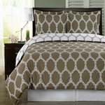 Brooksfield Taupe 100% Egyptian Cotton Duvet Cover Set