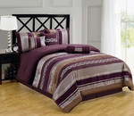 Claudia Purple  Multi - Piece Bedding Set