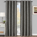 Gray Galleria Blackout Tonal Stripe Window Grommet Panel