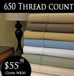 650 TC Egyptian cotton sheets