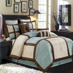 Morgan Blue Multi - Piece Luxury Bedding Set