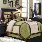Morgan Sage Multi - Piece Luxury Bedding Set