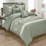 Myra Gray 5-Piece Duvet Cover Set 100% Cotton