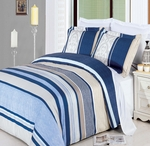 Park-Ave King/Cal-King 3-Pieces100% Egyptian Cotton Duvet Cover Set