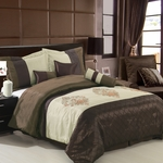 Queen Size Pacifica Coffee 7-Piece comforter set