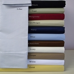 Split King Microfiber Solid Sheet Set