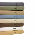 Split King Wrinkle Free 650 Egyptian Cotton Solid Sheet Sets