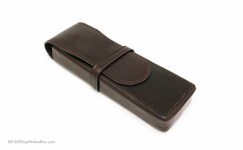 Aston Leather Pen Box for 2 Pens - Brown - Click to enlarge