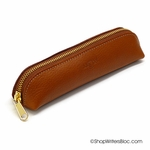 Aston Leather Pencil Pouch Tan
