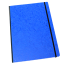 Clairefontaine Basic Cloth-Bound Notebook - Large, Blue, Lined
