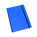 Clairefontaine Basic Cloth-Bound Notebook - Medium, Blue, Lined