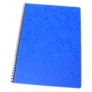 Clairefontaine Basic Spiral Bound Notebook - Large Blue, Ruled w/ Margin
