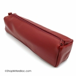 Clairefontaine Basics Leather Pencil Case - Square, Red