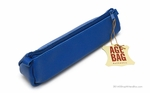 Clairefontaine Basics Leather Pencil Case - Trapezoid, Blue