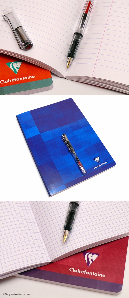 Clairefontaine Classic Cloth-Bound Notebook - Large, Ruled w/ Margin, Set of 5