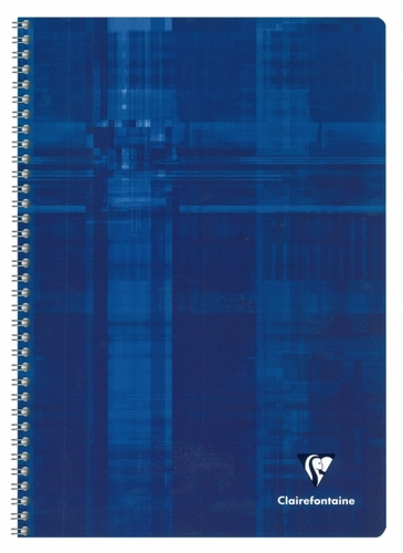 Clairefontaine Classic Wirebound Notebook - Blue, A4 Large, Ruled