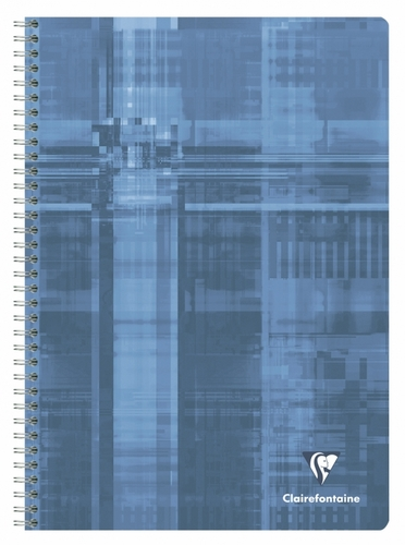 Clairefontaine Classic Wirebound Notebook - Blue-Grey, A4 Large, Ruled