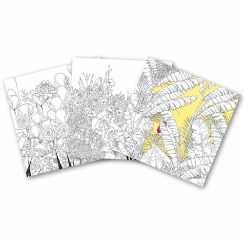 Clairefontaine Coloring Book for Adults - Flowers