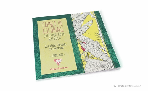 Clairefontaine Coloring Book for Adults - Flowers - Click to enlarge
