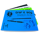 Clairefontaine Graf it 90g Sketch Pad - 8.25 x 11.75, Dot Grid