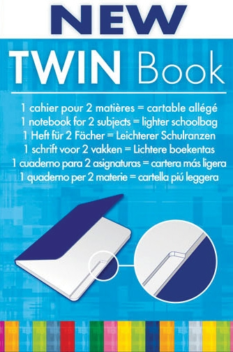 Clairefontaine Twinbook - Large, Ruled w/Margin