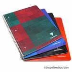 Clairefontaine Wirebound Notebook - Large, Ruled w/Margin, Punched