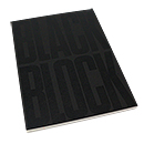 Exacompta Black Block Notepad - Large, Ruled with Margin