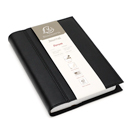 Exacompta Chelsea Leather Refillable Forum Journal - Black, Undated 365/Lined