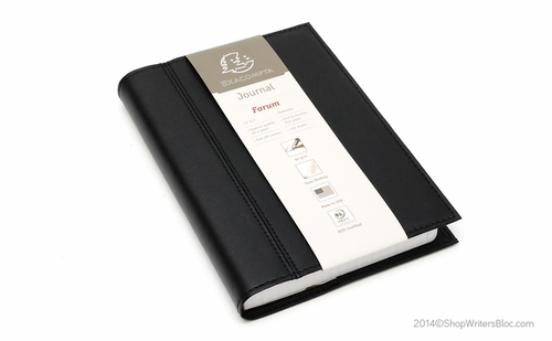 Exacompta Chelsea Leather Refillable Forum Journal - Black, Undated 365/Lined - Click to enlarge