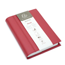 Exacompta Chelsea Leather Refillable Forum Journal - Red, Blank