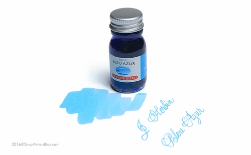 J. Herbin La Perle des Encres Fountain Pen Ink - Bleu Azur, 10ml bottle