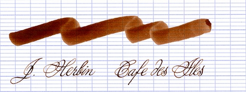 J. Herbin La Perle des Encres Fountain Pen Ink - Cafe des Iles, 10ml bottle