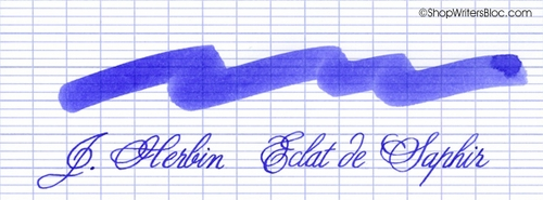 J. Herbin La Perle des Encres Fountain Pen Ink - Eclat de Saphir, 10ml bottle