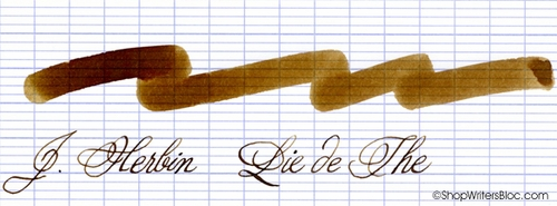 J. Herbin La Perle des Encres Fountain Pen Ink - Lie de The, 10ml bottle