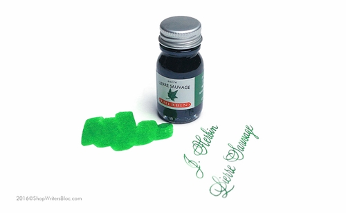 J. Herbin La Perle des Encres Fountain Pen Ink - Lierre Sauvage, 10ml bottle