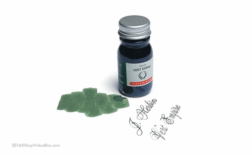 J. Herbin La Perle des Encres Fountain Pen Ink - Vert Empire, 10ml bottle