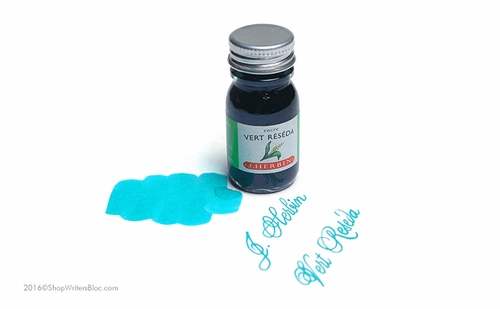 J. Herbin La Perle des Encres Fountain Pen Ink - Vert Reseda, 10ml bottle