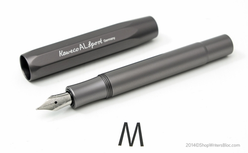Kaweco AL Sport Fountain Pen - Grey, Medium Nib - Click to enlarge