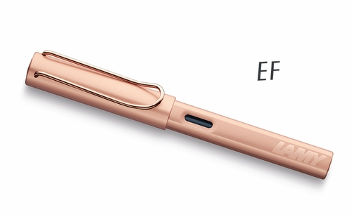 LAMY LX Fountain Pen - Rosegold, Extra Fine Nib - Click to enlarge