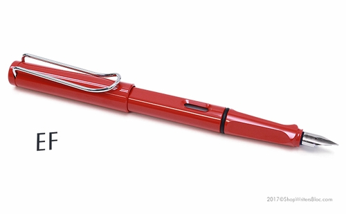 LAMY Safari Fountain Pen - Red, Extra Fine Nib - Click to enlarge