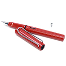 LAMY Safari Fountain Pen - Red, Fine Nib