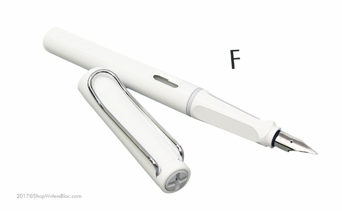 LAMY Safari Fountain Pen - White, Fine Nib - Click to enlarge