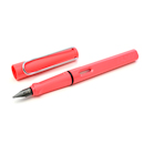 LAMY Safari Limited Edition Fountain Pen - Neon Coral, Black Nib