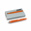LAMY T10 Fountain Pen Refills 5 Pack - Copper Orange