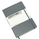 LEUCHTTURM 1917 Dot Grid Notebook - Large, Hard Cover, Gray