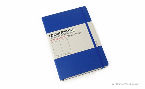 LEUCHTTURM 1917 Dot Grid Notebook - Medium, Hard Cover, Royal Blue - Click to enlarge