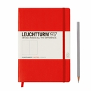 LEUCHTTURM 1917 Dot Grid Notebook - Medium, Hard Cover, Red