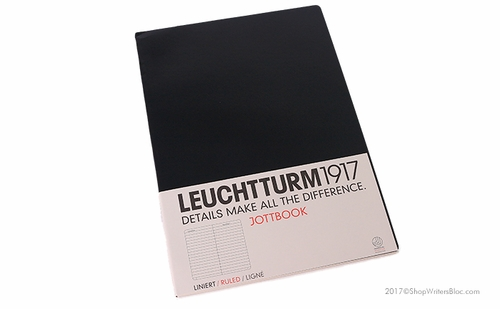 LEUCHTTURM 1917 Jottbook A4 - Large, Lined, Black - Click to enlarge