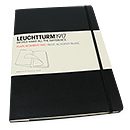 Leuchtturm 1917 Plain Academy Pad - A4 Hard Cover, Black