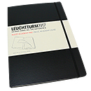 Leuchtturm 1917 Ruled Academy Pad - A4 Master, Hard Cover, Black